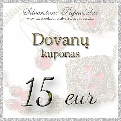 Dovanų kuponas 15 eur