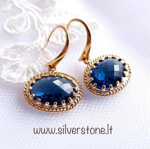 "Auskarai ""Blue Diamonds"""