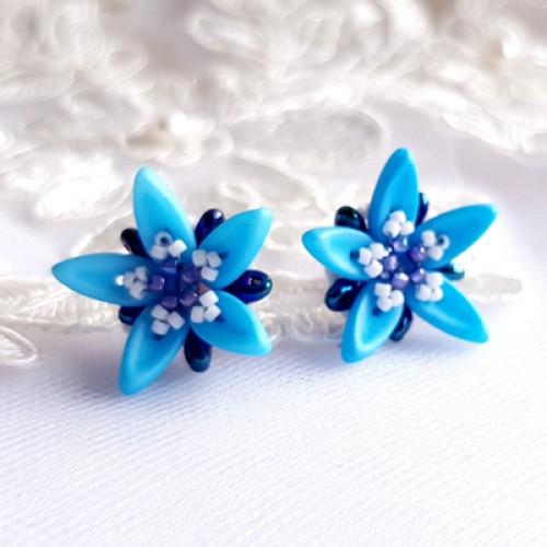 """Auskarai """"Blue Stars"""""""