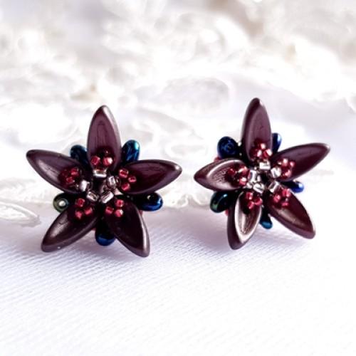 """Auskarai """"Chocolate Flowers"""""""