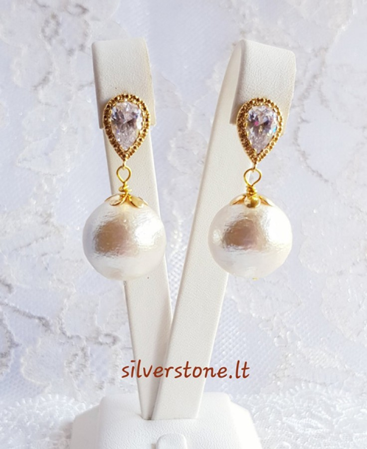 "Auskarai ""Light pearls"""