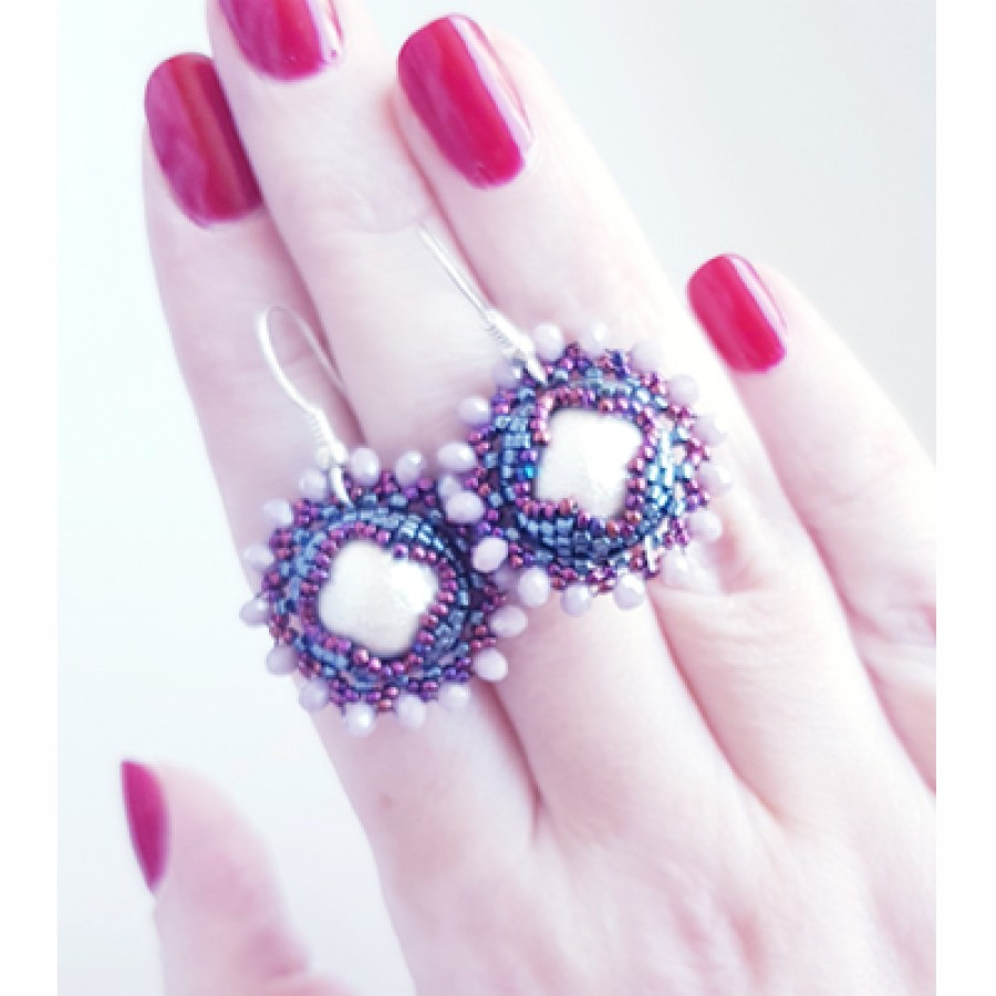 "Auskarai ""Sunny Pearls"""